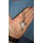 The Cross of Unisex Alloy Analog Quartz Keychain Watch (Bronze)