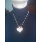 banhado a ouro oca-out pêssego colar da liga coração