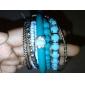 grânulos refrescantes pulseira liga multicamadas pulseira bohemia estilo oceano pulseira