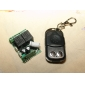 2-Channel Remote Control Switch Receiver and Metal 2-Key Transmitter