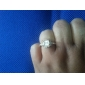 Z&X®  18 k rose gold plated princess cut square zircon ring around by the Austrian crystals