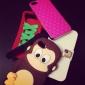 아이폰5용 3D 디자인 만화 캐릭터 원숭이패턴이 있는 소프트케이스 (여러색상)