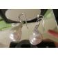lureme®white ellittica orecchino di perla