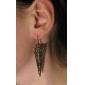lureme®vintage legering omvendte trekant mønster øreringe (Bronze)