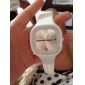 Silicone Band Fashion Women Men Unisex Casual Jelly Sport Watch - Silvery