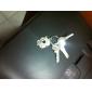 rustfrit elskere nøgleringe (I & u / 2-delt sæt)