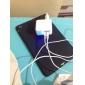 EU Plug double Adaptateur secteur USB de Voyage du port de chargeur avec lumière led pour ipad iphone iphone 6 6 plus et ipod (110v-240v, 2.1a)