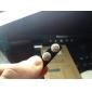 Medium Round Nail Form Fuldt juvelbesatte Stainless Steel Stud Øreringe