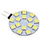 daiwl G4 2w 15x5050smd 120-150lm 6000-6500k naturligt hvidt lys førte spot pære (ac 12v)
