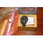 Women's Smiling Face Style PU Analog Quartz Wrist Watch (Pink)