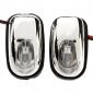 Universal Parabrisas delantero Salida de agua montado Mini Pareja Luces LED Decoración de coches
