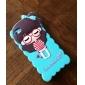 아이폰 5/5S를위한 T-셔츠 소녀 실리콘 케이스