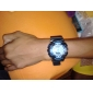 unisex dwukrotnie ruch wielofunkcyjny niebieski twarz czarny pas silikonowy Sportowy zegarek