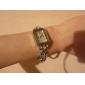 Women's Alloy Analog Quartz Bracelet Watch with Czekh Diamond (Silver)