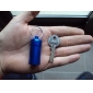 Portable Aluminum Medicine Bottle Pill Box Keychain (Random Color)
