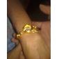 Frauen-Gold-Legierung herzförmigen Band Quarz Analog Armbanduhr