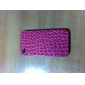 Protective Hard Back Case with Crocodile PU Leather Skin for iPhone 4 and 4S (Assorted Colors)