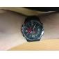 Armbanduhr Kleid weide® Herrenuhren Multifunktions zwei Zeitzonen schwarzem Stahl wasserdicht