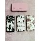 아이폰 5/5S (분류 된 색깔)를위한 카드 구멍을 가진 귀여운 잔디 패턴 pu 가죽 상자