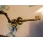 Key Many Parts Adjustable Leather Necklace