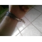 Men's Loopy Braided Leather Bracelet