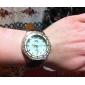 Frauen Diamante Shell Grain Dial PU-Band Quarz Analog-Armbanduhr (farbig sortiert)