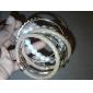 lureme®rose de color oro perla aleación plateada pulsera de múltiples capas