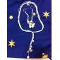 Набор украшений Стерлинговое серебро Сплав Змея Белый Ожерелья Серьги Для Для вечеринок День рождения Обручение Свадебные подарки