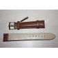 Unisex Genuine Leather Watch Strap 18MM(Brown)