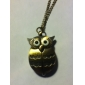Unisex Owl Style Vintage Alloy Quartz Analog Pocket Watch with Chain Cool Watches Unique Watches