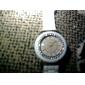 Montre pour Femme Tendance, à Quartz, Bracelet en Silicone - Blanche