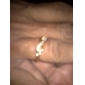 Women's Punk Infinity Golden Silver CZ Ring