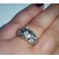 oro eruner®18mm anillo plateado circón (colores surtidos)