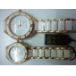 Pair of Alloy Analog Quartz Casual Couple Watches (Gold-White)