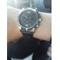 Masculino Relógio Elegante Quartzo PU Banda Preta Marrom Branco Preto
