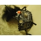 Half Feather Mask with Diamond for Halloween Masquerade Party