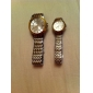 Couple's Quartz Analog Gold & Silver Alloy Band Wrist Watch (1-Pair)