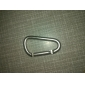 Small D Shaped Aluminum Alloy Durable Carabiner(Silver)