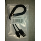 USB to Micro USB Stretchable Cable for Samsung Galaxy Note4/S4/S3/Huawei/Lenovo (Black)