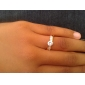 Позолоченные кольца циркон бронзовые J0760