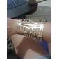 Shixin® Gold Tone Elegant Hollow Bangle Bracelets