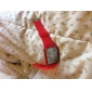 Unisex Square Mirror Face Red LED Digital Rubber Band Wrist Watch (Assorted Colors)