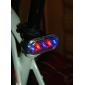 Red Blue Color Flashing 5-LED 3-Mode Bicycle Safety Warning Tail Light (2xAAA)