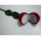 Caja De Joyas con Forma de Rosa Textil Larga Roja