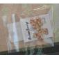 cristais lureme®colorful bowknot brincos