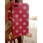 Dots ronde Motif mat Etui TPU mignon pour iPhone 4/4S (couleurs assorties)