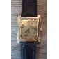 Men's Watch Auto-Mechanical Square Gold Dial Hollow Engraving