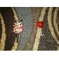 ziron coloré de hibou modèle anti-poussière écouteur (couleurs aléatoires)