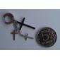 Cross hombres del acero inoxidable Ear Clip * 1