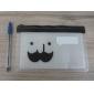 Multi-Use Mustache Pattern Transparent Ziplock Bags